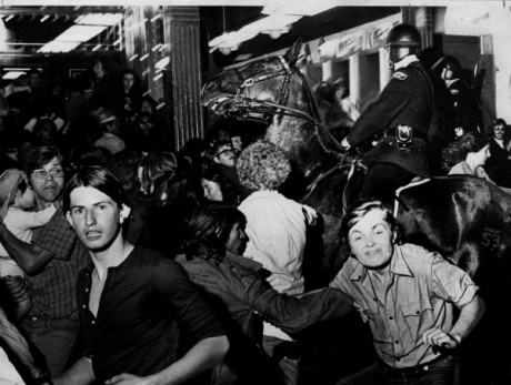 Aug 9, 1971: Photograph from the Gastown riot by Glenn Baglo. Print from the collection of John Denniston