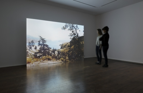Erin Shirreff Lake 2012 Color HD video, silent Inbv# ES111 Installation view: Science on the back end, Hauser & Wirth, 2012