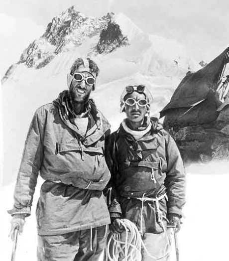 "Tenzing Norgay & Sir Edmund Hillary ""Courage and comradeship took them to the greatest heights"""