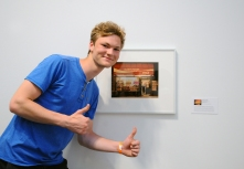 "Merit award honouree Niels Lucke with his work ""Glory Foods""."
